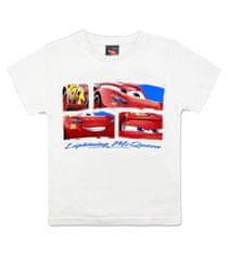 SETINO Chlapčenské tričko s krátkym rukávom Cars - biela