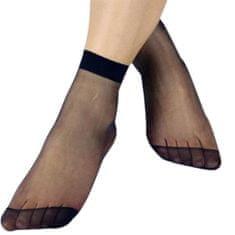 Pesail Dámské bambusové silonky - ponožky 10 párů - černá