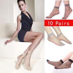 Pesail Dámske silonky - ponožky 10 párov - telová