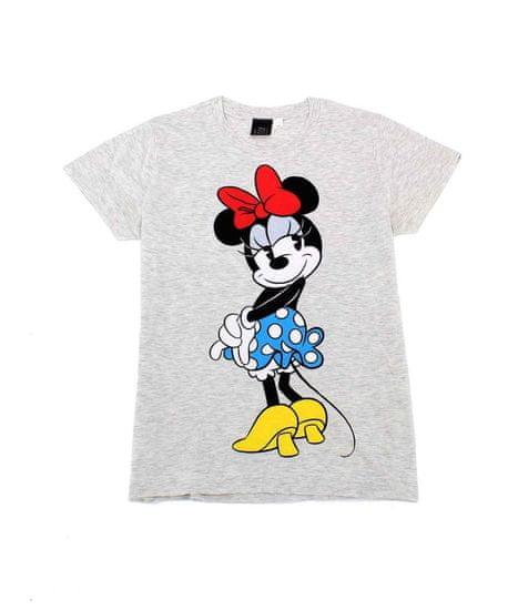 SETINO Dámske tričko krátky rukáv Minnie - sivá - L