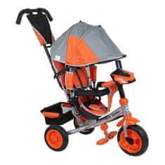 Baby Mix Detská trojkolka so svetlami Baby Mix Lux Trike sivo-oranžová Oranžová