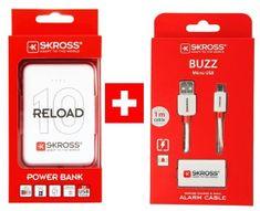 Skross PROMO powerbanka Reload 10 + Alarm USB kabel zdarma, DN56-Promo