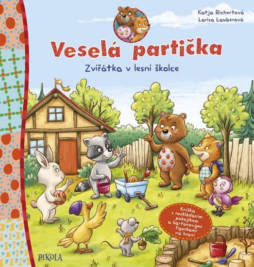 Richertová Katja: Veselá partička: Zvířátka v lesní školce