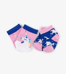 Little Blue House Rainbow Unicorns 2-Pack dječje čarape, dvostruko pakiranje