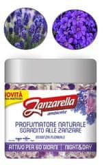 Zanzarella vonné perličky proti komárom s vôňou Kvetov - 60 dní