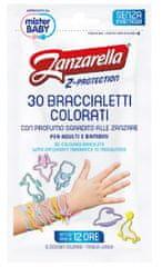 Zanzarella Z-ochranné náramky pre deti 30ks