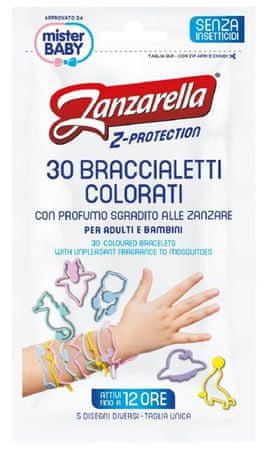 Zanzarella Z védő karkötő gyerekeknek 30db