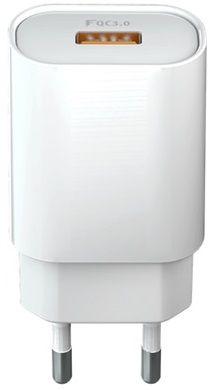 Forever ładowarka sieciowa Core USB QC 3.0, 18 W, biała GSM045480