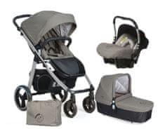 Casualplay Set kočík LOOP Aluminium, autosedačka Baby 0plus, vanička Cot a Bag 2017 - Jet