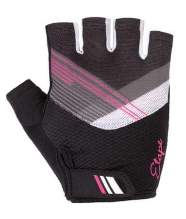 Etape Liana ženske kolesarske rokavice, črno-roza, S