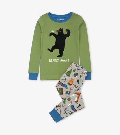 Little Blue House piżama dziecięca Retro Camping 116 wielokolorowa