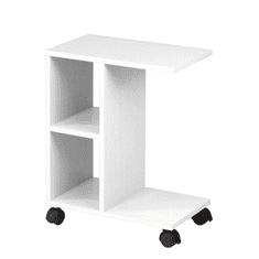 TEMPO KONDELA Príručný stolík, biela, ABBAS NEW
