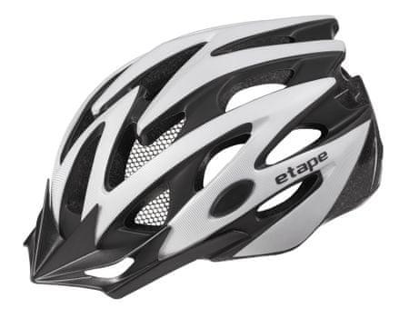 Etape kask rowerowy Biker Silver/Black Mat S/M