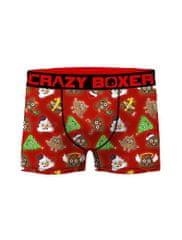 Crazy Boxer Pánské boxerky Crazy Boxer Xmas ASS 2