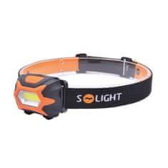 MDTools Čelová LED COB svítilna - čelovka, 3W, 150 lm, bateriová