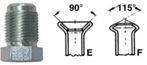 EWO Šroubení brzdového potrubí, profil F, M12x1 vnější, 4.75 mm