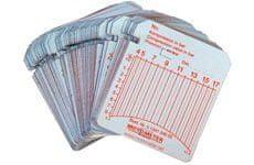 MotoMeter Zapisovací/registrační štítky 10-60 bar (100 ks) pro kompres. MotoMeter Diesel