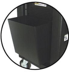 FIXMAN Závěsný odpadkový koš k dílenskému vozíku, 300 x 200 x 300 mm - Fixman