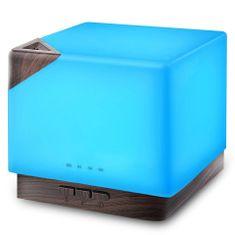 """GOLDSUN Aroma diffúzor """"Cube 700ml"""" légfrissítő és párásító - Sötét fa"""