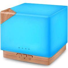 """GOLDSUN Oljni Difuzor """"Cube 700ml"""" osvežilec in vlažilec zraka - Svetli les"""