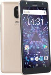 myPhone POCKET 18x9, 1GB/8GB, zlatý