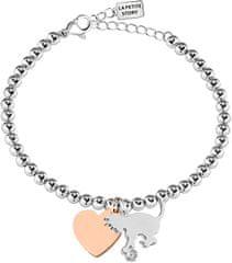 La Petite Story Bicolor náramok Mačka a Srdce LPSO5AQ108