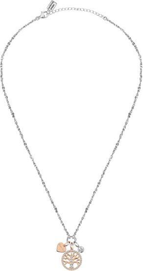 La Petite Story Bicolor ocelový náhrdelník Strom života LPS10AQA10