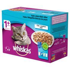 Whiskas kapsičky pre dospelé mačky, rybí výber v želé 48x100 g