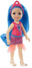 Mattel Barbie Wróżka Chelsea z niebieskimi włosami