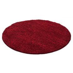 Jutex Koberec Life Shaggy červený 1500 kruh