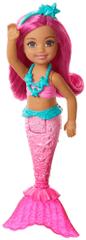 Mattel Barbie Chelsea syrenka z różowymi włosami