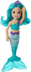 Mattel Barbie Chelsea morská panna modré vlasy