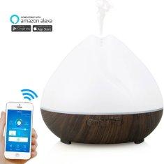 """GOLDSUN Aroma diffúzor """"WiFi - Mandala 400ml"""" légfrissítő és párásító - Sötét fa"""