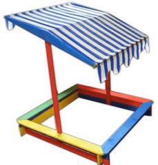 Rojaplast Színes gyerek homokozó tetővel