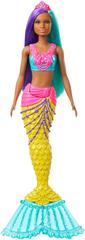 Mattel lalka Barbie Magiczna Syrenka - fioletowo-turkusowe włosy