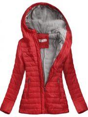 Amando Dámska prechodná bunda s kapucňou S-115, červená