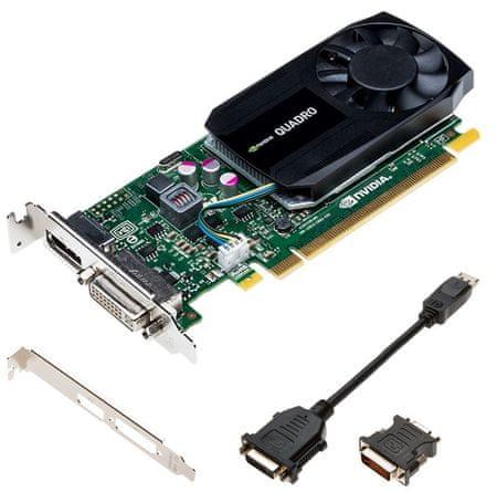 PNY Quadro K620, 2 GB GDDR3 grafična kartica