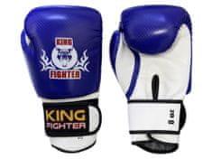 King Fighter Dětské boxerské rukavice carbon modré váha/velikost: 6