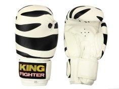 King Fighter Dětské boxerské rukavice dalmatine černé Boxerské rukavice: váha: 6