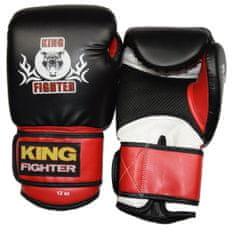 King Fighter Boxerské rukavice BASIC černá/červená Boxerské rukavice: váha: 10