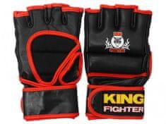 King Fighter MMA rukavice černá/červená Velikost: L