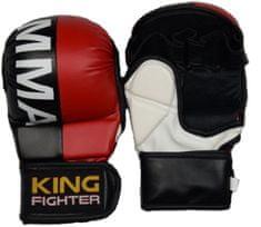King Fighter MMA rukavice double (červená/černá) velikost: L