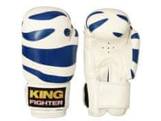 King Fighter Dětské boxerské rukavice dalmatine modré Boxerské rukavice: váha: 6