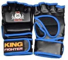 King Fighter MMA rukavice King Fighter PU (černá/modrá) Velikost: L