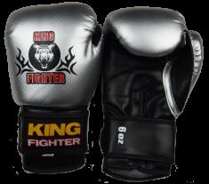 King Fighter Dětské boxerské rukavice carbon stříbrné Boxerské rukavice: váha: 6