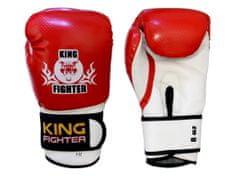 King Fighter Dětské boxerské rukavice carbon červené váha/velikost: 6