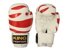 King Fighter Dětské boxerské rukavice dalmatine červené Boxerské rukavice: váha: 6