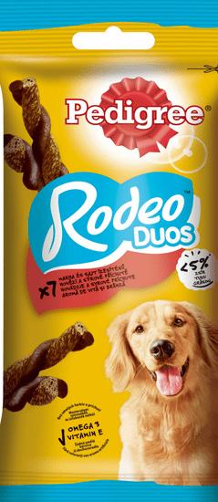 Pedigree pochoutka Rodeo Duos s hovězí a sýrovou příchutí 123 g