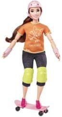 Mattel Barbie Olympionička Skateboardistka