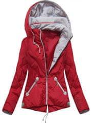 Amando Prechodná bunda s kapucňou B9517 červená